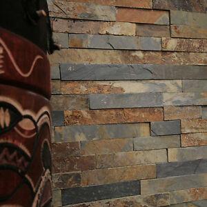 wand verblender rusty grey schiefer riemchen naturstein. Black Bedroom Furniture Sets. Home Design Ideas