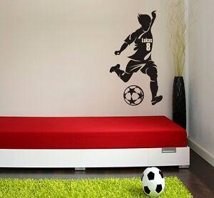 wandaufkleber wandtattoo kicker sport soccer name baby. Black Bedroom Furniture Sets. Home Design Ideas