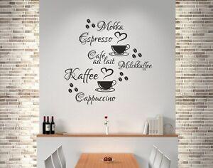wandaufkleber wandtattoo k che bad wohnzimmer kaffee 20. Black Bedroom Furniture Sets. Home Design Ideas