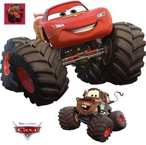 Wandaufkleber wandtattoo wandsticker cars mcqueen mack monster truck 100 cm xl ebay - Cars wandsticker ...