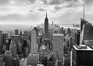 wandbild foto tapete new york stadt schwarz wei l gr e wand kunst ebay. Black Bedroom Furniture Sets. Home Design Ideas