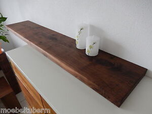 wandboard nussbaum massiv holz board regal steckboard regalbrett neu au auf ma ebay. Black Bedroom Furniture Sets. Home Design Ideas