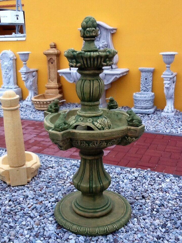 brunnen exklusiver gartenbrunnen springbrunnen steinguss wasserspiele deko ebay. Black Bedroom Furniture Sets. Home Design Ideas