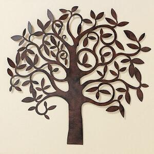 Wanddeko Baum Metall braun 72 cm (550370) Wandschmuck ...