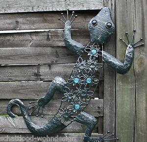 wandh nger wanddeko wandschmuck metall gecko salamander. Black Bedroom Furniture Sets. Home Design Ideas