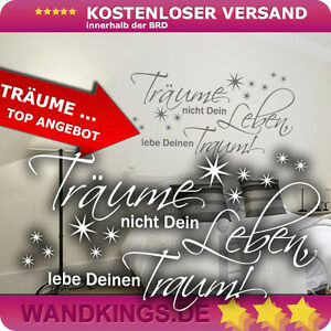 Wandkings-Wandtattoo-Traeume-nicht-Dein-Leben-Schlafzimmer-Traum-Dream-klein