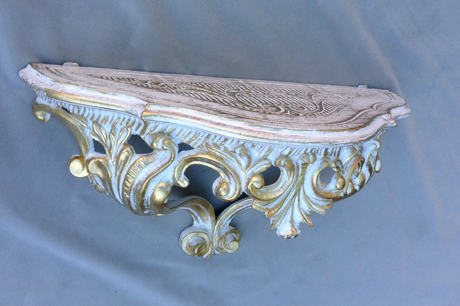 wandkonsole barock gold wandregal 38x20 spiegelkonsole. Black Bedroom Furniture Sets. Home Design Ideas