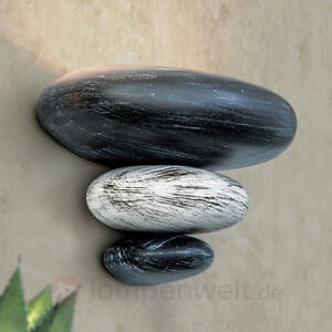 wandleuchte litica wandlampe steinimitation grau keramik. Black Bedroom Furniture Sets. Home Design Ideas