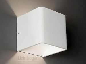 wandleuchte novel led 6w 3000k 438lm ip20 aussen weiss. Black Bedroom Furniture Sets. Home Design Ideas