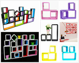 wandregal cube cd regal design regal h ngeregal lounge w rfel farbig retro neu ebay. Black Bedroom Furniture Sets. Home Design Ideas