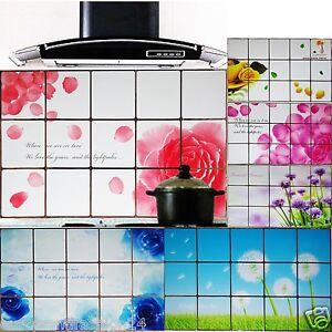 Wandschutz Spritzschutz Küche Bad Wand Tattoo Aufkleber Fototapeten Alu 75x45  eBay