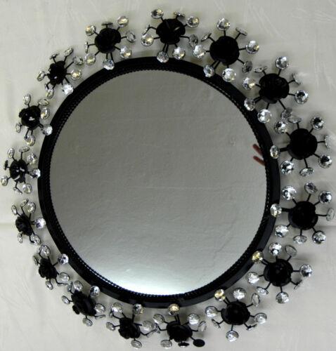 wandspiegel 58 cm glamour luxus spiegel rund glitzernde128. Black Bedroom Furniture Sets. Home Design Ideas