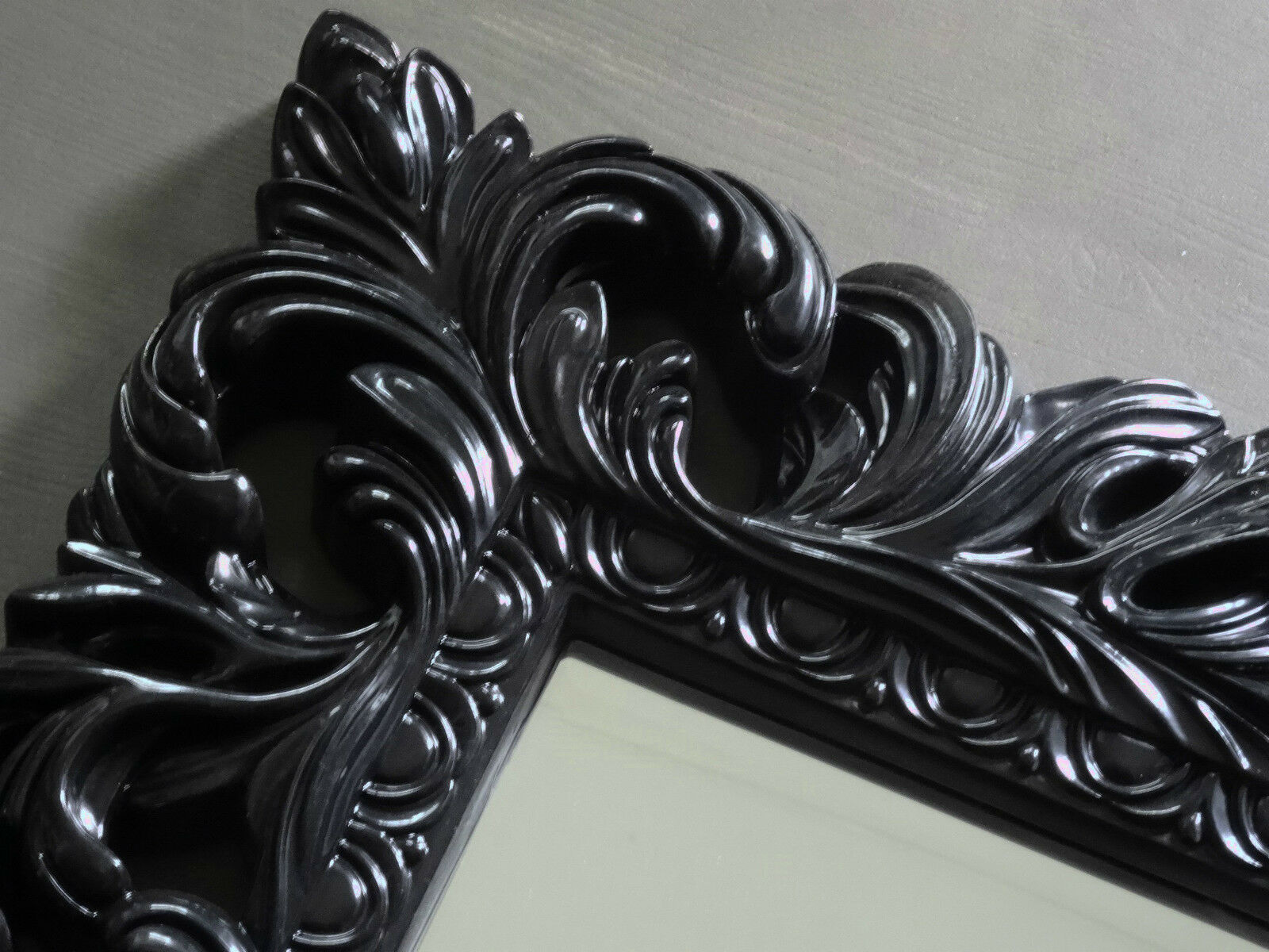wandspiegel antik barock repro in schwarz shabby glamour. Black Bedroom Furniture Sets. Home Design Ideas