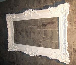 wandspiegel antik spiegel wei 96x57 badspiegel xxl wandspiegel barock ebay. Black Bedroom Furniture Sets. Home Design Ideas