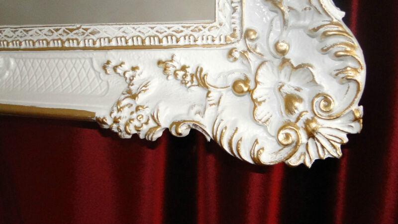bilderrahmen barock antik wei gold 96x57 fotorahmen. Black Bedroom Furniture Sets. Home Design Ideas