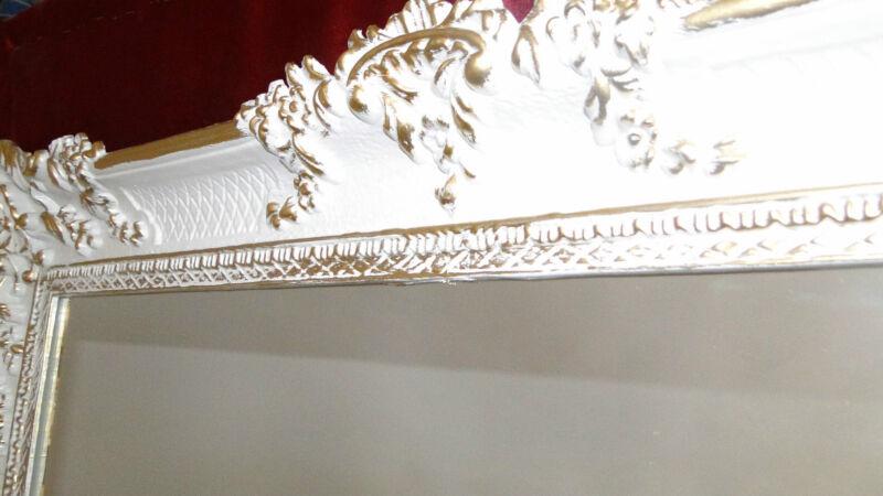 barock wandspiegel wei gold spiegel antik wanddeko 97x57 ebay. Black Bedroom Furniture Sets. Home Design Ideas