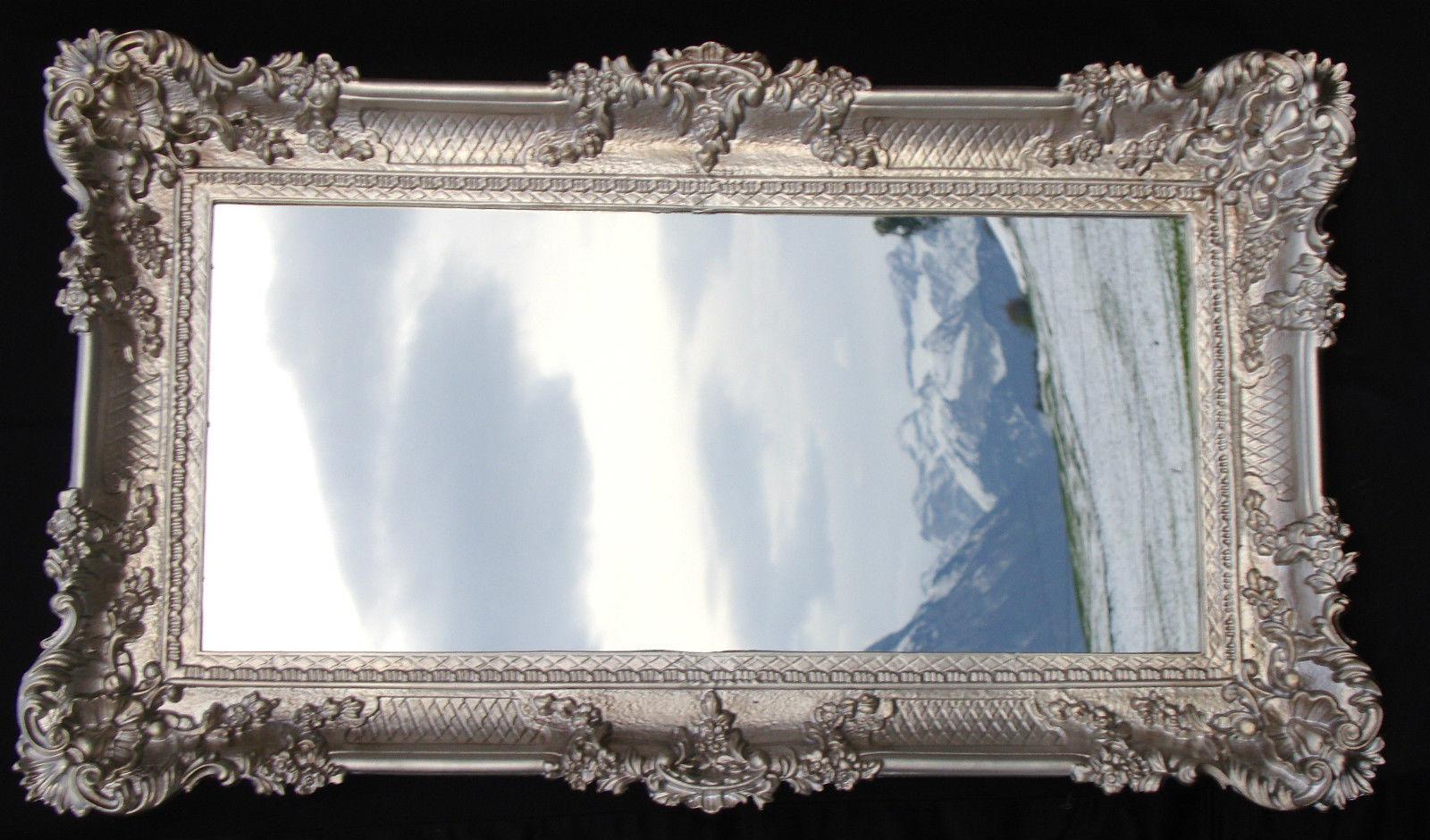 wandspiegel barock antik silber spiegel wand deko 97x57 gro flurspiegel ebay. Black Bedroom Furniture Sets. Home Design Ideas