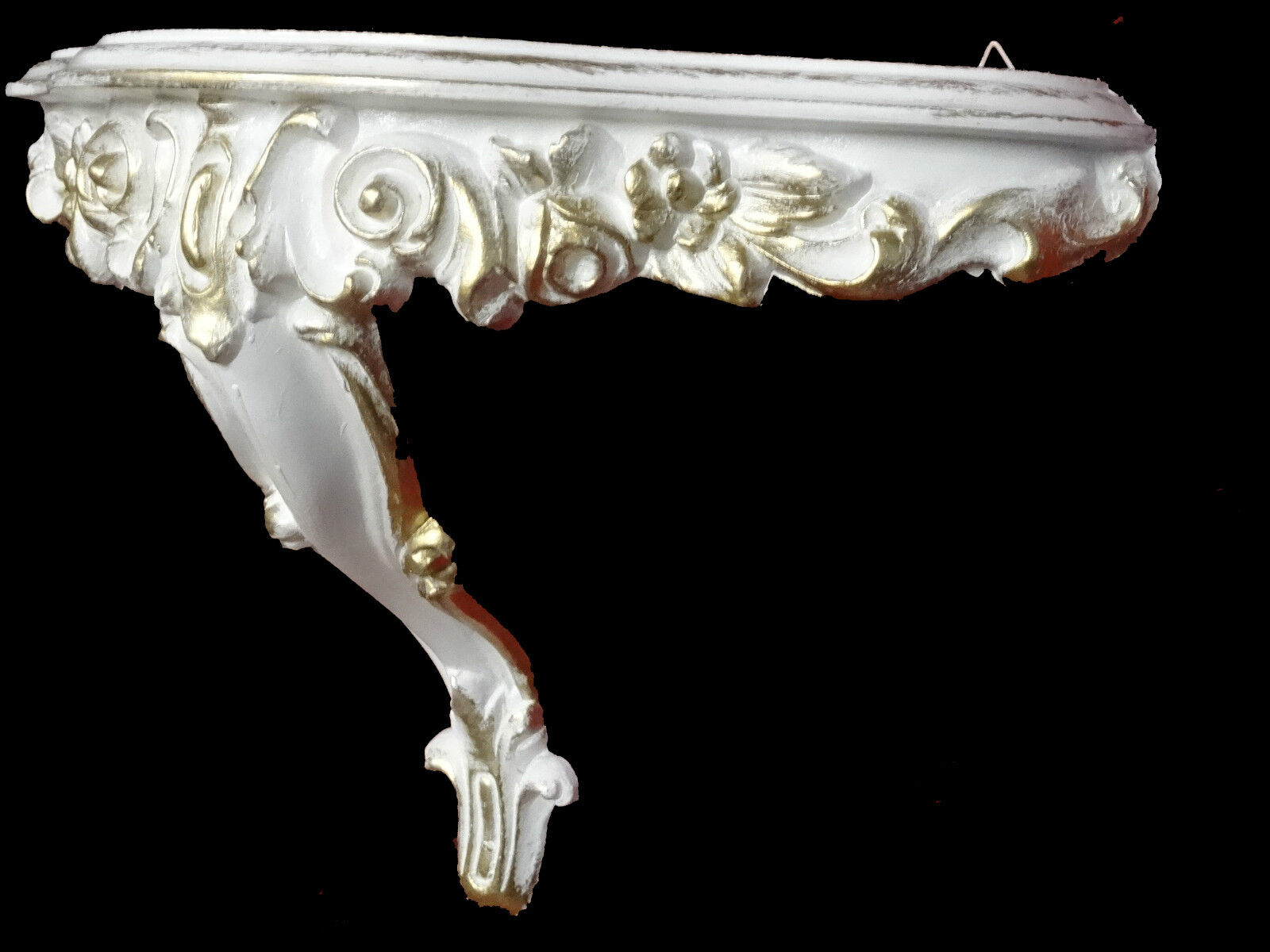 Wall mirror console mirror table set baroque antique for White and gold mirror
