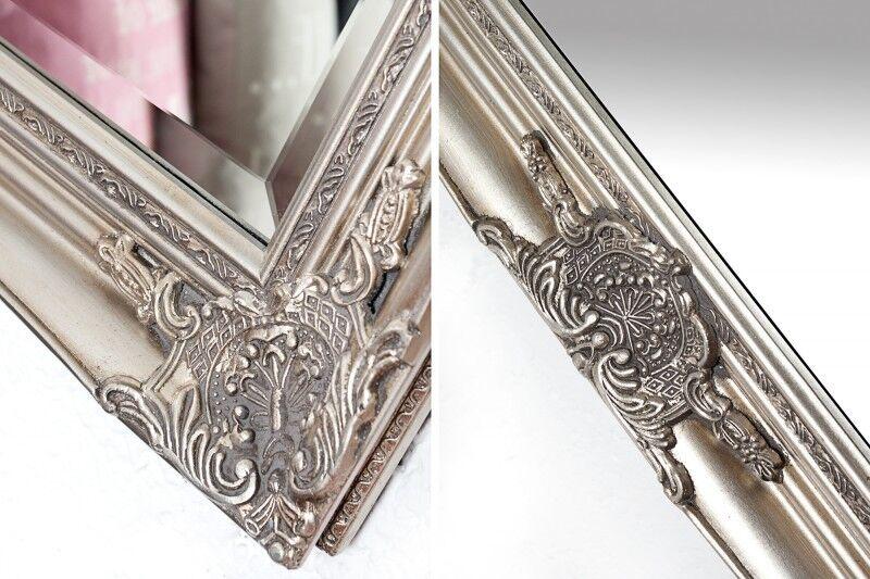 wandspiegel rechteckig silber spiegel barock antik repro shabby 105x75 cm ebay. Black Bedroom Furniture Sets. Home Design Ideas