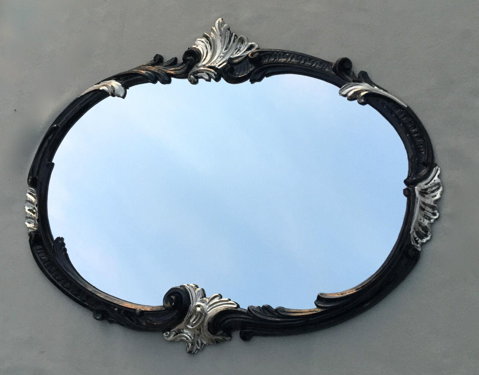 Wandspiegel barock oval antik gold 52x42 badspiegel for Spiegel 52 2017