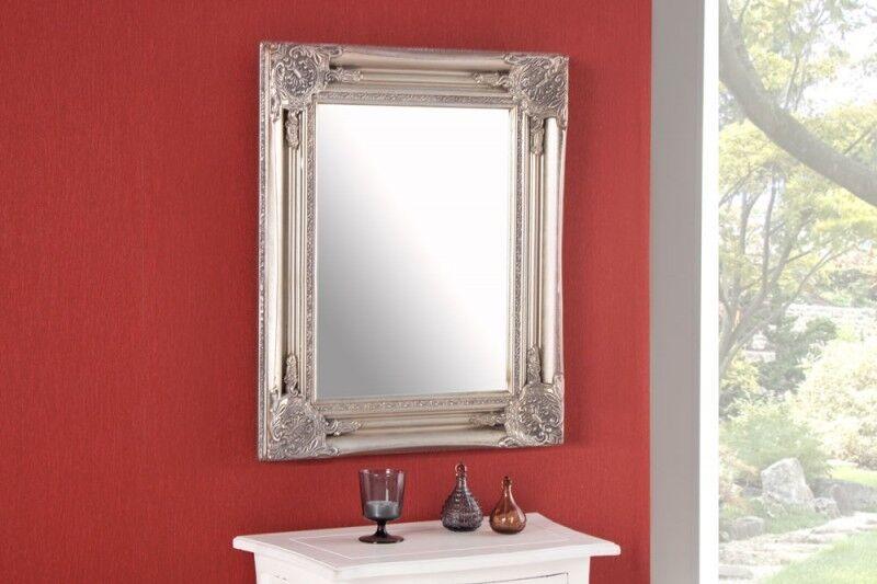 wandspiegel silber badspiegel barspiegel spiegel barock antik repro shabby 12. Black Bedroom Furniture Sets. Home Design Ideas