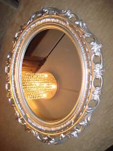 wandspiegel spiegel 58 x 68 barock oval neu 120 silber antik 1bilderrahmen ebay. Black Bedroom Furniture Sets. Home Design Ideas