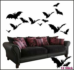 wandtattoo 12 flederm use 2 varianten vampire batman fensterv gel 1014 ebay. Black Bedroom Furniture Sets. Home Design Ideas