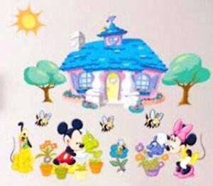 Wandtattoo aufkleber bild sticker f r kinder babyzimmer mickey minnie maus xxl ebay - Wandtattoo minnie maus ...