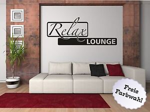 wandtattoo aufkleber wandaufkleber wohnzimmer spr che relax lounge ebay. Black Bedroom Furniture Sets. Home Design Ideas