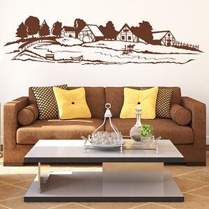 wandtattoo bauernhof farm dorf ab landschaft weide. Black Bedroom Furniture Sets. Home Design Ideas