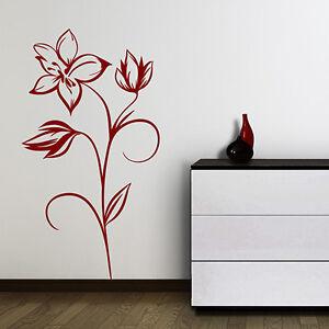 wandtattoo blumen ranke blume bl ten aufkleber wandaufkleber wand tattoo 2046 ebay. Black Bedroom Furniture Sets. Home Design Ideas
