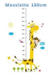 wandtattoo kinder messlatte giraffe wand sticker bis 140 cm kinderzimmer bastel ebay. Black Bedroom Furniture Sets. Home Design Ideas