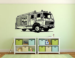 wandtattoo kinderzimmer feuerwehr motiv 1 ebay. Black Bedroom Furniture Sets. Home Design Ideas