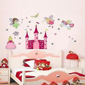 wandtattoo kinderzimmer prinzessin einhorn fee xxl wandsticker s ss m dchen deko ebay. Black Bedroom Furniture Sets. Home Design Ideas