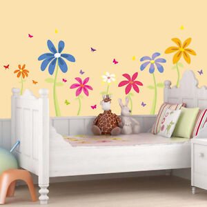 wandtattoo selina blumen schmetterlinge wandaufkleber wandsticker ebay. Black Bedroom Furniture Sets. Home Design Ideas