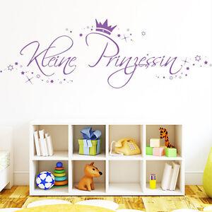 wandtattoo kleine prinzessin mit sterne ab18 90 m dchen kinderzimmer krone10308 ebay. Black Bedroom Furniture Sets. Home Design Ideas
