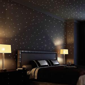 Wandtattoo-Leucht-Sterne-Punkte-350Stk-leuchtende-Sterne-Sternenhimmel-glow