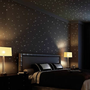 Wandtattoo-Loft-350-Stk-Leuchtsterne-Leuchtpunkte-Sternenhimmel-Sterne