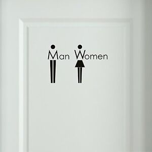 Wandtattoo-Man-Women-Bad-WC-Toiletten-Tueraufkleber-Buero-Sprueche-Wandtatoo-6O