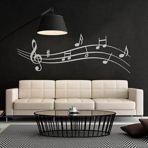 Wandtattoo Wall Art : wandtattoo noten musik notenlinie aufkleber wall art wand tattoo 2071 ebay ~ Sanjose-hotels-ca.com Haus und Dekorationen