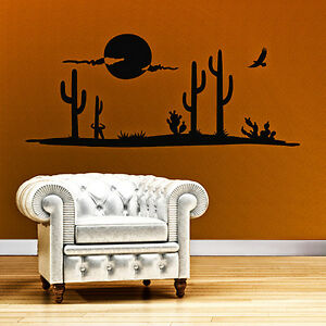 Wandtattoo savanne tiere w ste kaktus afrika wandaufkleber - Wandtattoo afrika tiere ...