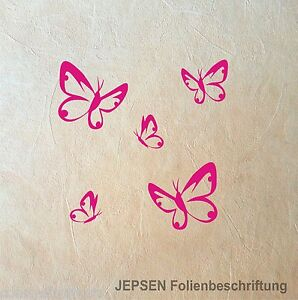 Wandtattoo-Schmetterling-Set-S-5-Wandtatoo-Butterfly-Schmetterlinge