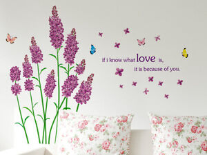wandtattoo schmetterling spruch blumen wandsticker. Black Bedroom Furniture Sets. Home Design Ideas