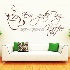 wandtattoo schriftzug spruch kaffee duft k che ab 21 50 10091 ebay. Black Bedroom Furniture Sets. Home Design Ideas