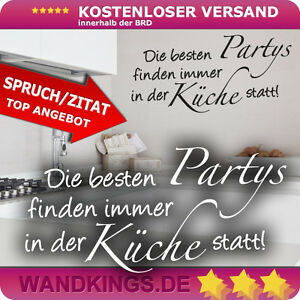 wandtattoo spruch die besten partys finden k che esszimmer wandspruch 50x24 cm ebay. Black Bedroom Furniture Sets. Home Design Ideas