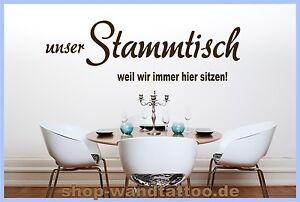 Wandtattoo-Spruch-Kueche-Stammtisch-Nr-S10-1-Groessen-und-Farbauswahl