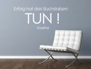 wandtattoo wandsticker spr che zitate erfolg hat drei. Black Bedroom Furniture Sets. Home Design Ideas