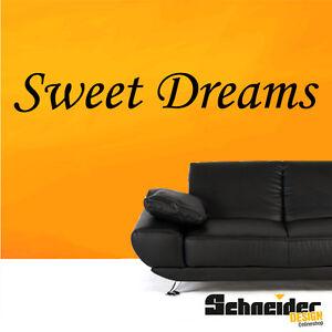 wandtattoo sweet dreams wandbild wandaufkleber schriftzug schlafzimmer deko ebay. Black Bedroom Furniture Sets. Home Design Ideas
