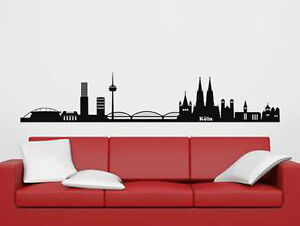wandtattoo wandsticker skyline k ln wandaufkleber k ln tattoo k ln aufkleber ebay. Black Bedroom Furniture Sets. Home Design Ideas