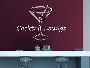 wandtattoo wandsticker spr che cocktail lounge wandspr che k che ebay. Black Bedroom Furniture Sets. Home Design Ideas